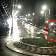 Камеры наблюдения засекли прыжки румынского Кена Блока