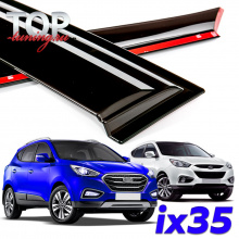 Дефлекторы на окона Well Visors Premium на Hyundai  ix35