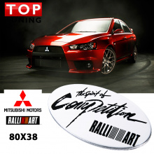 Эмблема наклейка RalliArt  Oval Type - Spirit Of Competition на Mitsubishi