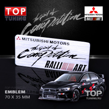 Эмблема Ralli Art The spirit of Competition на Mitsubishi