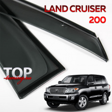 Дефлекторы на окна Well Visors Premium на Toyota Land Cruiser 200