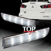 LED стоп-сигналы Crystal White / Red на Mitsubishi Lancer 10 (X)