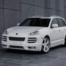 Корпусы модулей ПТФ в передний бампер Tech Art Lite на Porsche Cayenne 957
