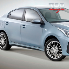 Пороги Barracuda на Kia Rio 4
