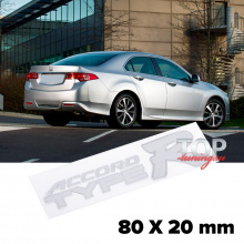 Шильдик эмблема Accord Type-R 80 x 20 mm на Honda Accord
