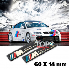 Шильдики эмблемы M-Power 60 x 14 mm на BMW