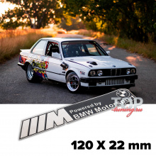 Шильдик эмблема  BMW Motorsport Black 120 x 22 mm на BMW
