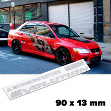 Шильдики Evolution Ralliart 90 x 13 mm для Mitsubishi