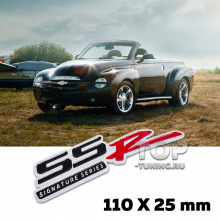 Шильдик эмблема SSR Signature Series 110 x 25 mm на Chevrolet