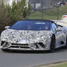 Lamborghini Huracan Performante Spyder - последние шпионские снимки