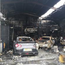 В Великобритании сгорел склад автомобилей JDM