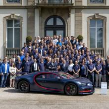 Сотый Bugatti Chiron покинул завод - уникальный матовый синий