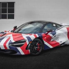 Union Jack Flag McLaren 720S выглядит очень британским