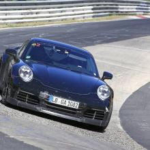 Шпионские снимки 2020 Porsche 911 GT3 на Нюрбургринге