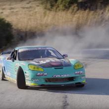 Дрифт 1000 л.с. Corvette по горным дорогам