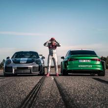 1200 л.с. Audi устанавливает мировой рекорд движения задом