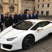 Белый Lamborghini Hurac?n RWD Папы Римского снова в продаже