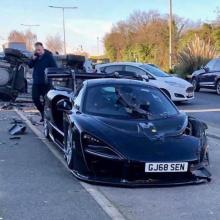 McLaren Senna разбит в Англии