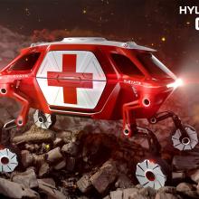 Hyundai раскрывает детали первого в мире шагающего концепт-кара Elevate