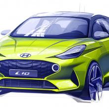 Hyundai показал первый эскиз новой модели i10
