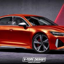Рендер седана Audi RS6 - нового соперника BMW M5