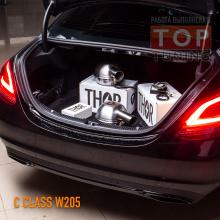 Установка электронного выхлопа THOR в Mercedes C-class W205 (2019)