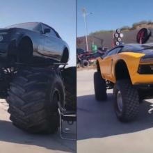 Китайские монстр-траки Lamborghini и Rolls-Royce