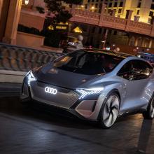 Audi представляет новый автомобиль AI ME на выставке CES!