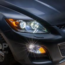 Full LED в оптику MAZDA CX-7 с линзами X-Bright