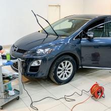 Нанесение состава антидождь на Mazda CX-7