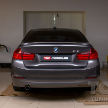 Установка лип-спойлера на крышку багажника BMW F30