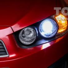 LED линзы в штатную оптику для Chevrolet Aveo Т300