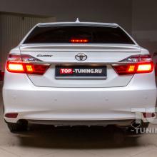 Установка спойлера и козырька для Toyota Camry XV50