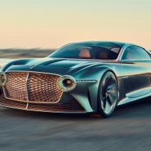 Полностью электрический Bentley будет выглядеть драматичнее, чем Porsche Taycan