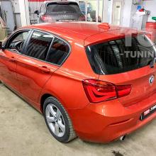Установка электронного выхлопа THOR в BMW 1 F20