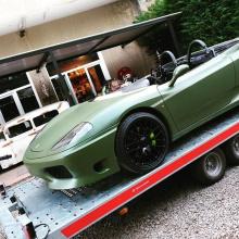 Ferrari 360 Spider превращается в спидстер
