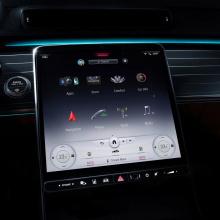Новый интерьер Mercedes-Benz S-класса с 5 экранами!