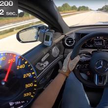 Посмотрите, как 2021 AMG E63 S разгонится до 300 км в ч на немецком автобане