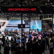 Совершите виртуальный тур по стенду автосалона Porsche на автосалоне в Пекине 2020