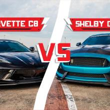 C8 Corvette против Shelby GT350