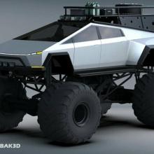 Tesla Cybertruck Monster Truck готов сокрушить бензиновых конкурентов