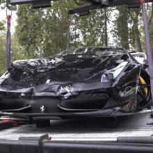 Ferrari 458 Spider врезался в 812 Superfast и BMW M6