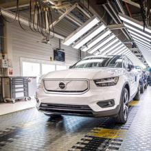 Volvo Cars начал производство полностью электрического XC40 Recharge P8