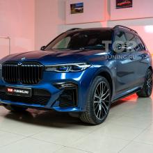Бронепленка и выезжающие пороги для BMW X7