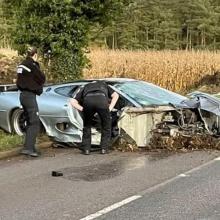 Jaguar XJ220 из Top Gear попал в ужасную аварию