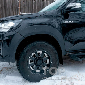 Расширители колесных арок Bastion RS +25 мм для Toyota Hilux 8 (Exclusive Black)