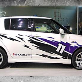 Наклейки на авто - полноформатный комплект Eleven на Suzuki