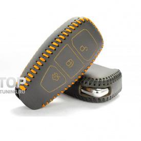 Кожаный чехол для смарт-ключа 3 кнопки на Ford Maverick