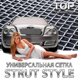 Стальная тюнинг сетка Strut Style Хром - 120x30