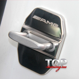 Металлические заглушки на скобы дверей на Mercedes
